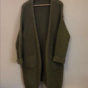 Sweaters - Olive Green Oversized Knit Sweater